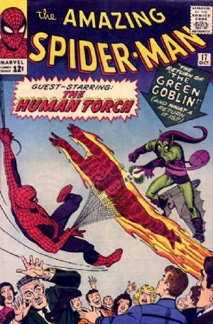 (Marvel) Cover for Amazing Spider-Man, The #17 2nd appearance of The Green Goblin, Human Torch Crossover