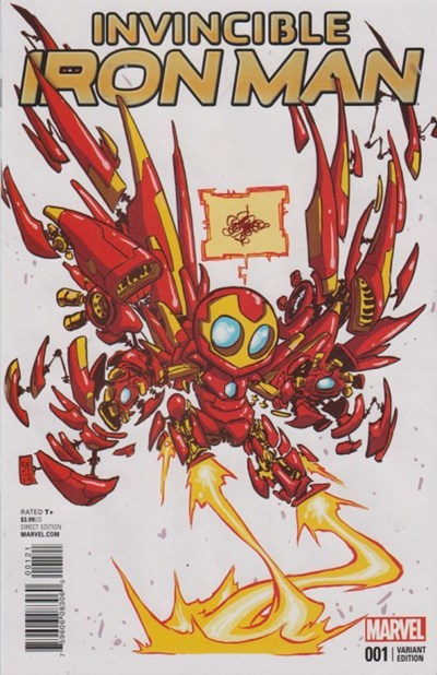 INVINCIBLE IRON MAN #1 Cbldf Variant Cover FERRY COVER 2015