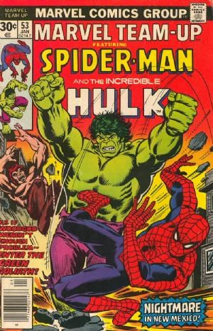 (Marvel) Cover for Marvel Team-Up #53 Hulk Team-Up, 1st John Byrne X-Men Art, Woodgod Appearance