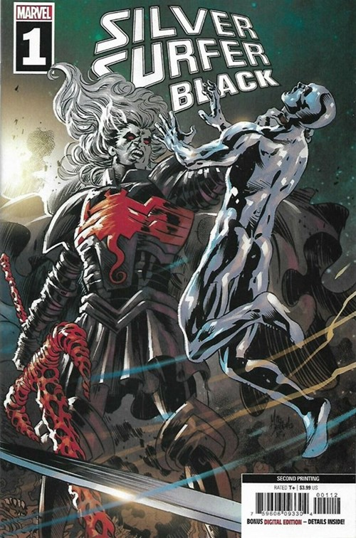 COVER A LIMITED TO 3000 SILVER SURFER BLACK #1 RYAN BROWN VARIANT