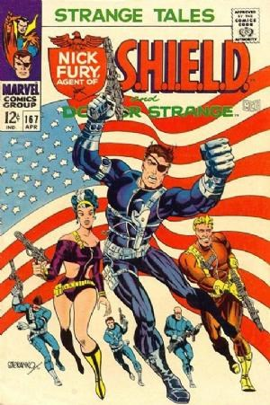 (Marvel) Cover for Strange Tales #167 Classic Steranko Flag cover